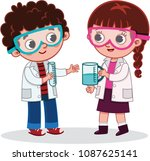 vector illustration of two... | Shutterstock .eps vector #1087625141
