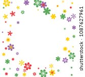 feminine floral pattern with... | Shutterstock .eps vector #1087627961