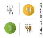 gear stick icon. flat design ... | Shutterstock . vector #1087628624