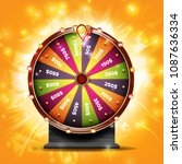 wheel of fortune banner vector. ... | Shutterstock .eps vector #1087636334