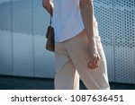 cropped shot of stylish woman.... | Shutterstock . vector #1087636451