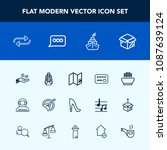 modern  simple vector icon set... | Shutterstock .eps vector #1087639124