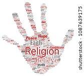 vector conceptual religion  god ...   Shutterstock .eps vector #1087639175