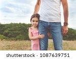 pretty smiling little girl... | Shutterstock . vector #1087639751