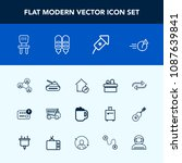 modern  simple vector icon set... | Shutterstock .eps vector #1087639841
