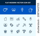 modern  simple vector icon set... | Shutterstock .eps vector #1087643705
