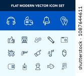modern  simple vector icon set... | Shutterstock .eps vector #1087644611