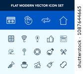 modern  simple vector icon set... | Shutterstock .eps vector #1087644665