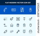 modern  simple vector icon set... | Shutterstock .eps vector #1087645265