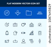 modern  simple vector icon set... | Shutterstock .eps vector #1087645829