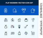 modern  simple vector icon set... | Shutterstock .eps vector #1087648421
