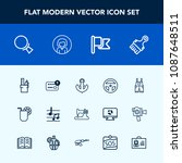 modern  simple vector icon set... | Shutterstock .eps vector #1087648511
