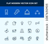 modern  simple vector icon set... | Shutterstock .eps vector #1087650905
