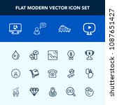 modern  simple vector icon set... | Shutterstock .eps vector #1087651427