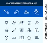 modern  simple vector icon set... | Shutterstock .eps vector #1087652351