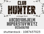 vintage font handcrafted vector ...   Shutterstock .eps vector #1087657025