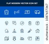 modern  simple vector icon set... | Shutterstock .eps vector #1087657367