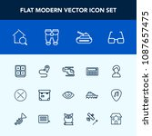 modern  simple vector icon set... | Shutterstock .eps vector #1087657475