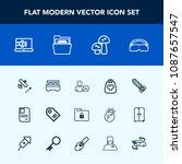 modern  simple vector icon set...   Shutterstock .eps vector #1087657547