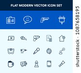 modern  simple vector icon set... | Shutterstock .eps vector #1087658195