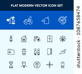 modern  simple vector icon set... | Shutterstock .eps vector #1087658474