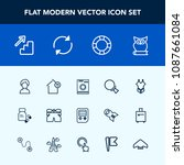 modern  simple vector icon set...   Shutterstock .eps vector #1087661084
