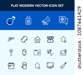 modern  simple vector icon set... | Shutterstock .eps vector #1087661429