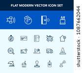 modern  simple vector icon set...   Shutterstock .eps vector #1087662044