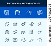 modern  simple vector icon set... | Shutterstock .eps vector #1087662905
