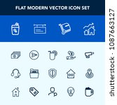 modern  simple vector icon set... | Shutterstock .eps vector #1087663127