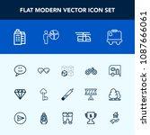 modern  simple vector icon set... | Shutterstock .eps vector #1087666061