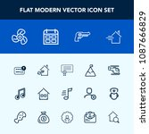 modern  simple vector icon set... | Shutterstock .eps vector #1087666829