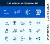 modern  simple vector icon set...   Shutterstock .eps vector #1087666835