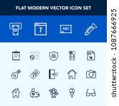 modern  simple vector icon set... | Shutterstock .eps vector #1087666925