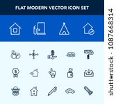 modern  simple vector icon set... | Shutterstock .eps vector #1087668314