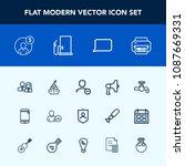 modern  simple vector icon set...   Shutterstock .eps vector #1087669331
