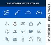modern  simple vector icon set... | Shutterstock .eps vector #1087670315