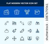 modern  simple vector icon set... | Shutterstock .eps vector #1087670561