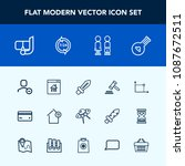 modern  simple vector icon set... | Shutterstock .eps vector #1087672511
