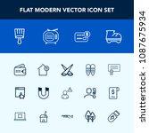 modern  simple vector icon set...   Shutterstock .eps vector #1087675934