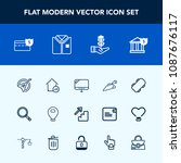 modern  simple vector icon set... | Shutterstock .eps vector #1087676117