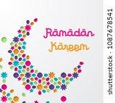 ramadan kareem greeting card... | Shutterstock .eps vector #1087678541