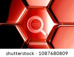 red glossy search minus icon in ... | Shutterstock . vector #1087680809
