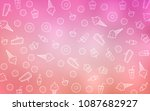light pink vector background... | Shutterstock .eps vector #1087682927