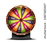 fortune wheel. luck sign.... | Shutterstock . vector #1087683407