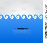 sea wave background  summer... | Shutterstock .eps vector #108769259