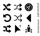 filled set of 9 arrows icons...   Shutterstock .eps vector #1087692929