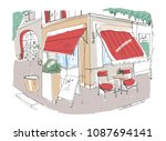 colored freehand sketch of... | Shutterstock . vector #1087694141