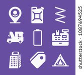 filled set of 9 tools icons...   Shutterstock .eps vector #1087694525
