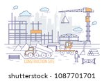 construction site or area with...   Shutterstock . vector #1087701701